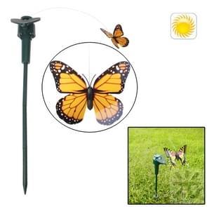 Lifelike Decorative Courtyard Garden Solar Flying Butterfly Toy(Yellow)