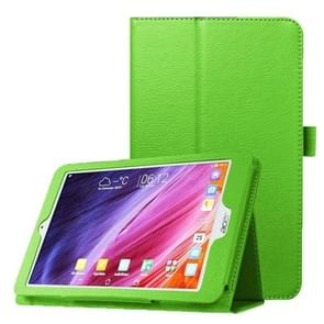 Litchi Texture Horizontal Flip Leather Case with Holder for Acer Iconia One 8 B1-820(Green)
