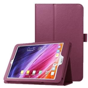 Litchi Texture Horizontal Flip Leather Case with Holder for Acer Iconia One 8 B1-820(Purple)