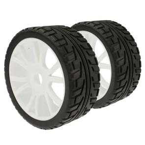 1:8 Rubber Sponge Racing RC Cars 1/8 Buggy Tyre Wheel Set for RC Model, 4 Pcs in One Packaging, the Price is for 4 Pcs