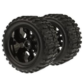 1:10 Rubber Sponge Racing RC Cars Monster Bigfoot Tyre Wheel Set for RC Model, 4 Pcs in One Packaging, the Price is for 4 Pcs
