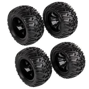 4 pcs 1:10 Rubber Tread Tires for R/C Electric / Oil Hybrid Rock Crawler Car