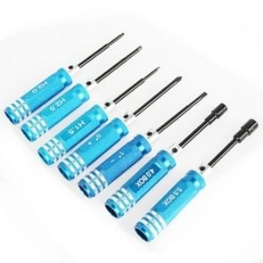 7 in 1 RC Tool Screwdriver for Trex 450 (Blue)