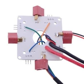 T-plug APM PX4 Power Distribution Board / ESC Connecting Board for Quadcopter(White)