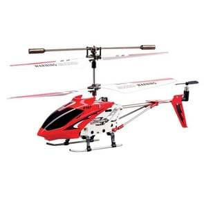 S107G 3-Channel Alloy Remote Control Helicopter with LED / Gyro(Red)