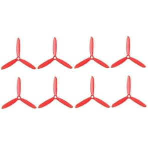 4 Pairs 5045 3-Blades Propeller CW/CCW Props for 250mm RC Quadcopter(Red)