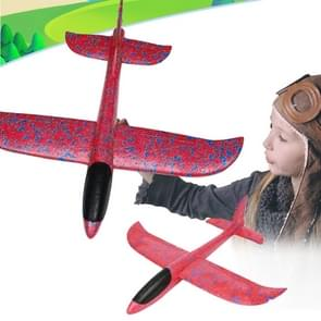 New Style Children Airplane Model Toy Hand Launch Throwing Airplane Kleurrijk Foam Swing Glider Toys(rood)