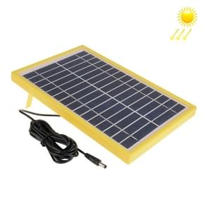 15V 5.5W Portable Solar Panel with Holder Frame, 5.5 x 2.1mm Port(Yellow)
