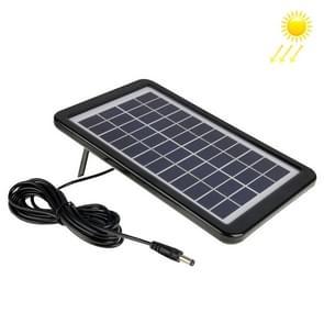 12V 3W Portable Solar Panel with Holder Frame, 5.5 x 2.1mm Port(Black)