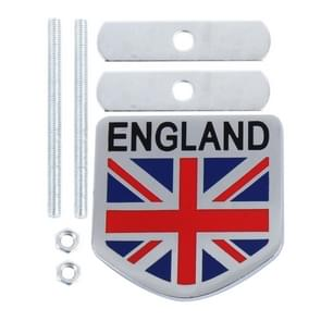 Universal England Flag Pattern Aluminum Alloy Car Front Grille