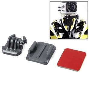HR67 SIXXY Gopro Helmet Curved Surface + 3M VHB Sticker + Mount Stand Kit for GoPro  NEW HERO /HERO6   /5 /5 Session /4 Session /4 /3+ /3 /2 /1, Xiaoyi and Other Action Cameras(Grey)