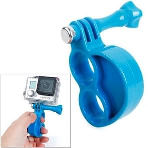 TMC HR273 Gen2  Fingers Grip with Thumb Screw for GoPro  NEW HERO /HERO6   /5 /5 Session /4 Session /4 /3+ /3 /2 /1, Xiaoyi and Other Action Cameras(Blue)