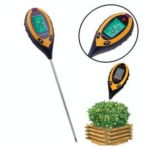 4 in 1 (PH Value + Temperature + Moisture + Sunlight Tester) Plant Soil Survey Instrument(Orange)