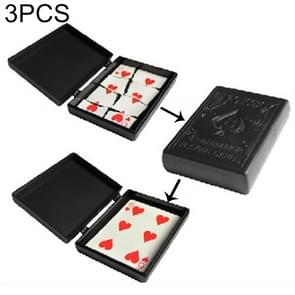 3 PCS Restore Box Broken Paper Card Case Close-up Magic Trick Toy(MG0290)(Black)