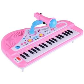 Electronic Organ Keyboard 37-key Electronic Piano with Stands & Microphone, Random Color Delivery
