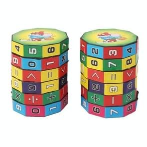 2 PCS Educational Numeral Magic Cube / Mathematical Formular Cube for Children