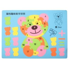 Bear Style Magnetic Number Puzzle Intellectual Jigsaw Puzzle Educational Toys, Size: 29 x 22cm