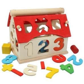 Multi-Kleur Number Huis houten Educational Toy