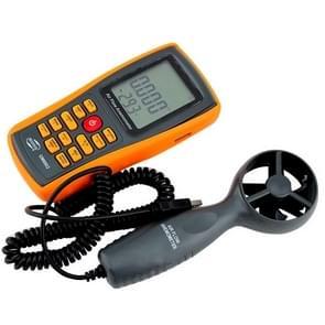 BENETECH GM8902 2.6 Inch LCD Screen Digital Wind Speed Meter Anemometer(Yellow)
