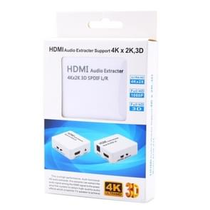 HDMI to HDMI & Audio (SPDIF) Output & 3.5mm Analog Audio Outpit Audio Extractor, supports 3D & 4K x 2K(Black)