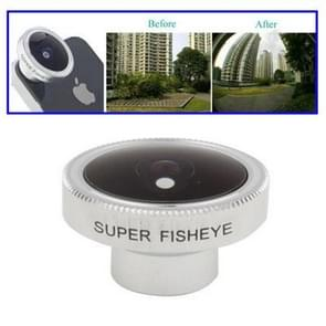 185 Degree Fish Eye Wide Angle Lens, Lens below Dia. 13mm, For iPhone, Galaxy, Huawei, Xiaomi, LG, HTC and Other Smart Phones(Silver)