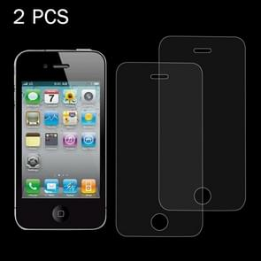 2 PCS 0.26mm 9H Surface Hardness 2.5D Explosion-proof Tempered Glass Screen Film for iPhone 4 & 4S