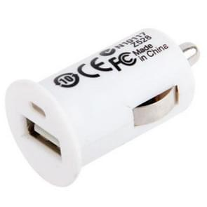 5V / 1A Mini USB Car Charger, For iPhone, Galaxy, Huawei, Xiaomi, LG, HTC and Other Smart Phones(White)
