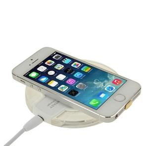 FANTASY Wireless Charger & 8Pin Wireless Charging Receiver for iPhone 6 Plus / 6 / 5S / 5C / 5(White)