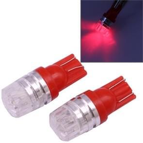 2 PCS T10 1.5W 60LM 1 LED Red COB LED Brake Light for Vehicles, DC12V(Red)