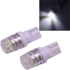 2 PCS T10 1.5W 60LM 1 LED White COB LED Brake Light for Vehicles, DC12V(White)