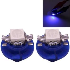 2 PCS B8.4 Blue Light 0.2W 12LM 1 LED SMD 5050 LED Instrument Light Bulb Dashboard Light for Vehicles, DC 12V(Blue)