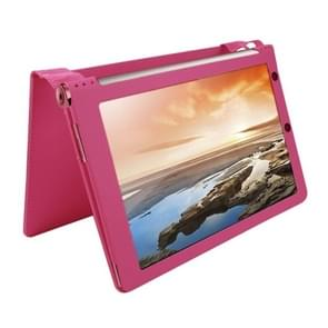 Litchi Texture Magnetic Leather Case with Holder for Lenovo Yoga Tablet 10 / B8000 & 10 HD+ / B8080-F(WMC1562)(Magenta)