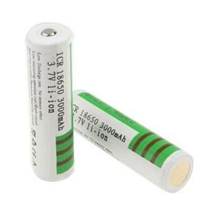 2 PCS Sky Ray ICR 18650 3000mAh 3.7V Long Lasting Rechargeable Lithium ion Battery with Circuit Protection(Green)