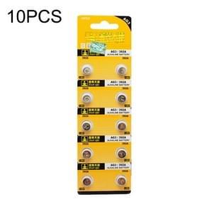 10 PCS AG3 / 392A 1.55V Alkaline Button Battery