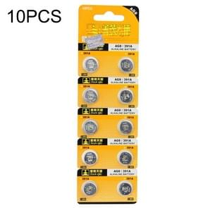 10 PCS AG8 / 391A 1.55V Alkaline Button Battery