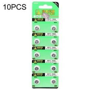 10 PCS AG11 / 362A 1.55V Alkaline Button Battery