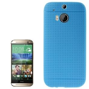 Pure Color TPU Protective Case for HTC One M8 (Blue)