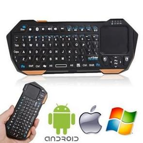 Mini Bluetooth Keyboard with Built in Touchpad for iPad mini 1 / 2 / 3 , Working Distance: 10m , Designed for iOS / Android / Windows Operating System Tablet PC  (The iOS Systems do not Support the iPad / iPhone touch, but Macbook and iMac Support.)(Black