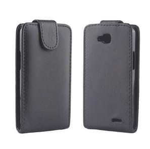 High Quality Vertical Flip Leather Case for LG L90 / D410(Black)