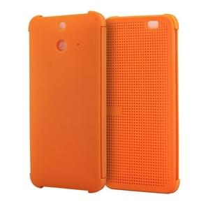 For HTC One E8 Smart Flip Dot View Case with Sleep and Wake-up Function(Orange)