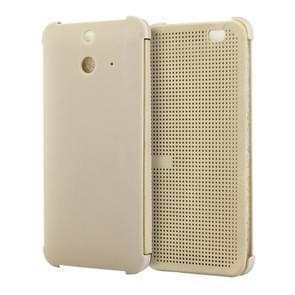 For HTC One E8 Smart Flip Dot View Case with Sleep and Wake-up Function(Gold)