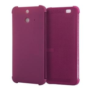 For HTC One E8 Smart Flip Dot View Case with Sleep and Wake-up Function(Purple)