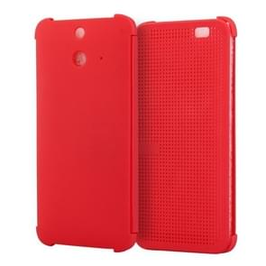 For HTC One E8 Smart Flip Dot View Case with Sleep and Wake-up Function(Red)