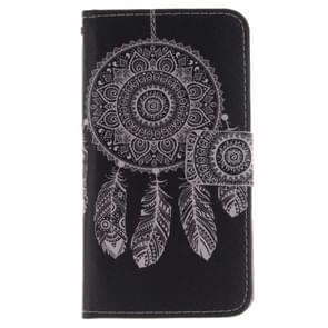 National Style Wind Bell Pattern Horizontal Flip Leather Case with Holder & Card Slots & Wallet for Wiko Wax