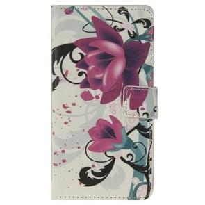 Flower Pattern Leather Case with Holder & Card Slots & Wallet for ZTE Blade S6