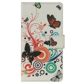 Butterfly Pattern Leather Case with Holder & Card Slots & Wallet for ZTE Blade S6