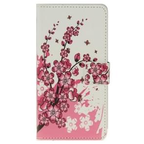 Plum Blossom Pattern Leather Case with Holder & Card Slots & Wallet for ZTE Blade S6