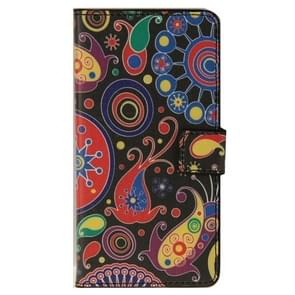 Colorful Painting Pattern Leather Case with Holder & Card Slots & Wallet for ZTE Blade S6