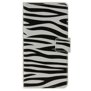 Zebra Texture Pattern Leather Case with Holder & Card Slots & Wallet for ZTE Blade S6