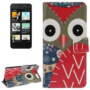 Owl Pattern Leather Case with Holder & Card Slots & Wallet for Amazon Fire Phone